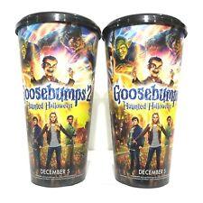 2Pcs Goosebumps 2 Theatres Movie 2018 Plastic Cup Cinemas