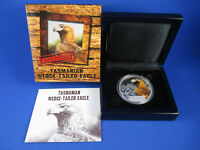 2012 $1 TUVALU 1oz Silver Proof Coin. Endangered - Tasmanian Wedge-Tailed Eagle