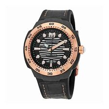 Technomarine TM-515008 Sun/Reef Men's Black Leather 45mm