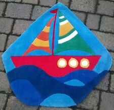 Childs/kids bedroom boat rug nice quality Brand new 86x87cm