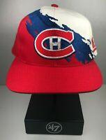 Vintage Montreal Canadiens Splash Logo Athletic snapback hat cap NHL streetwear