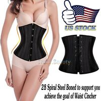 28 Steel Boned Belly Band Waist Trainer Cincher Body Shaper Underbust Corset USA