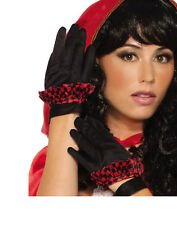 Little Red Hooded Womens Adult Red Ridding Hood Short Gloves