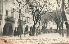 More details for france grasse - place aux aires and the arcades old real photo postcard (1918)