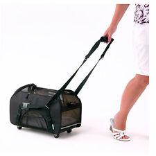 Bergan Wheeled Comfort Pet Carrier, Black pets up to 22lbs