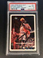MICHAEL JORDAN 1999 UPPER DECK #S1 SILVER SCRIPT PROMO CARD NM-MINT PSA 8 MJ