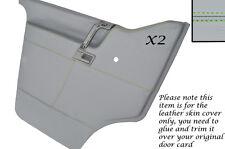 Green stitch 2X porte cartes cuir gris couvre pour vw T4 transporter camper