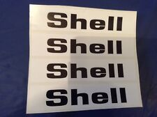 4x Shell Racing Decals - Slotcar trackside 4x decals - Scalextric