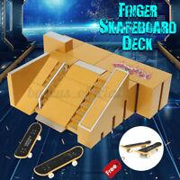 Skate Parks Ramp Parts Set Tech Finger Deck Board Ultimate Training Toys Gift