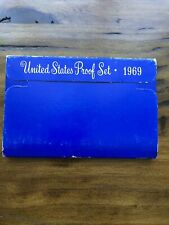 1969-S Us Mint Proof Coin Set In Original Box And Hard Plastic Case