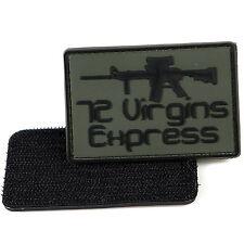 LIVABIT 72 Virgin Express PVC Morale Patch 3D Tactical Badge Hook #26 Airsoft