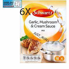 6 x 26g Schwartz Garlic, Mushroom & Cream Sauce Mix