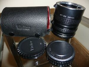Cased Vivitar 3 Piece Extension Tube Set - With Branded Case!