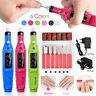 GQ Manicure Pedicure Electric Drill File Nail Art Pen Machine Kit Set US/EU PLUG