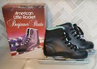 American Little Rocket Double Runner Beginner Ice Skate Black Boys size 12
