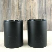 NEW RTIC 12 oz Lowball Black Stainless Steel Insulated Tumbler SET OF 2