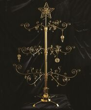 """40"""" GOLD Auto Revolving Ornament Jewelry Display Tree with adjustable branches"""