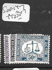 HONG KONG   (P2906B)  POSTAGE DUE SG D14-7    MOG