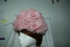 vintage LADIES HAT PINK FLOWERS