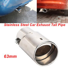Universal Car 63mm ID. Stainless Steel Round Exhaust Tail Pipe Muffler Tip Valid