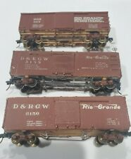 Collection of 3 Used HOn3 Denver Rio Grande Western Box Cars