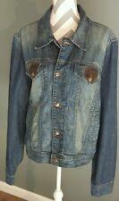 women's Earl Jean denim jacket size xxl NEW WITH TAGS msrp $180.