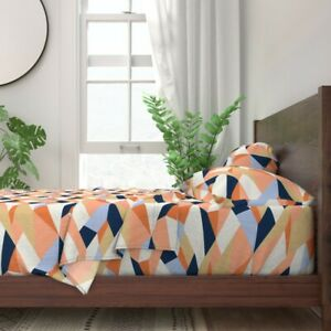 Geometric 100% Cotton Sateen Sheet Set by Roostery
