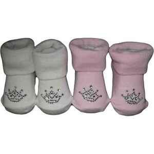 CUTE PRINCESS CROWN BABY SOCKS  0-6 MONTHS PINK OR WHITE
