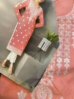 Pink Designer Soft Cotton Kurti -Size 42/XL USA  Seller-Free Shipping