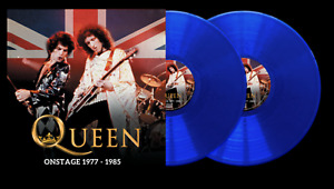 QUEEN LIVE ONSTAGE 1977-1985 2 X BLUE VINYL LP LIMITED 2000 NUMBERED - BRAND NEW