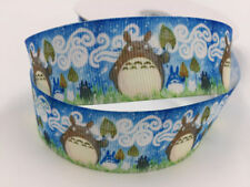 5 Yard 1'' 25MM Totoro animation Printed Grosgrain Ribbon Hair Bow Sewing Ribbon