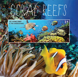 St. Vincent 2012 - SC# 3844 - Coral Reefs, Marine Life - Souvenir Sheet - MNH
