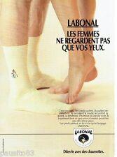 PUBLICITE ADVERTISING 116  1988  les chaussettes hommes Labonal