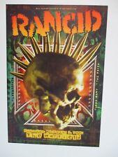 Rancid Warfield Poster Tiger Army The Frisk Necklomantix Bgp 312 Craig Howell