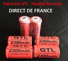 6 Piles Accus Rechargeables CR123A 16340 3.7V 2300Mah GTL Li-ion Batteries