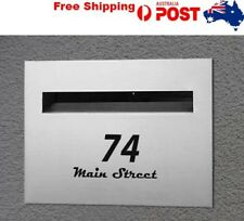 House Number MailBox Mail box Custom Sticker Street Vinyl Decal Front Door