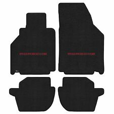 911 996 Carrera 2001-2005 4Pc Car Floor Mats Carpet Black Ultimat Porsche Logo