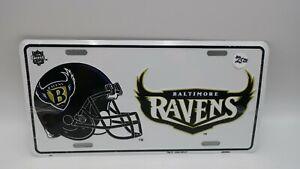 NOS VTG 1996 Metal Embossed Front License Plate Car Tag Baltimore Ravens NFL