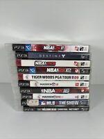 Playstation 3 PS3 Video Game Lot Of 10 Bundle Madden PGA NBA Walking Dead MLB