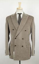 New. BRIONI Lipari Brown Corduroy Cotton Blend Double Breasted Suit 50/40R $4995