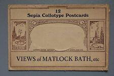 R&L Empty Postcard Envelope, Lilywhite, Views of Matlock Bath