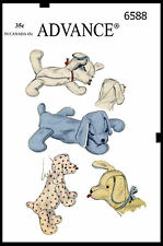 Stuffed Amimal Pattern Sleeping PUPPY Dog TOY Advance # 6588 GIRL BOY Child KIDS