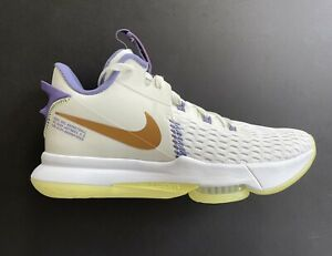 Nike LeBron Witness V Summit White Bronze Lakers Shoes CQ9380-102 Size 11.5