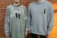 Vintage Carmel Lot of 2 Twin Golf Sweaters Men's Size Xlarge Usa Pullover Vtg