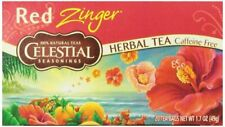 Celestial Seasonings Red Zinger Herbal Tea 20 Ct BB 08/2021 3pk
