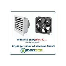 Grid 16x15 Diam.10 cm WHITE Ventilation Aeration Forced 230 V for F
