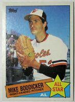 1985 Topps Baltimore Orioles Baseball Card #709 Mike Boddicker AS