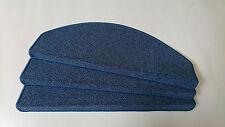 14 Stufenmatten, Stufenauflagen, Schlingenware, Blau, 65cm Breit TA1008