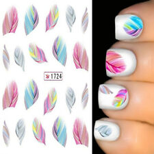 Rainbow Dreams Feature Feather Nail Art Water Transfer Decal Sticker New