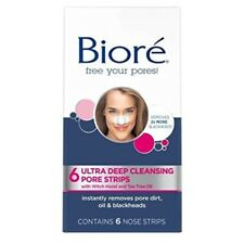 Biore Nose Pore Strips Blackhead Removal Unclog Pores Pack Of 6 Brand New